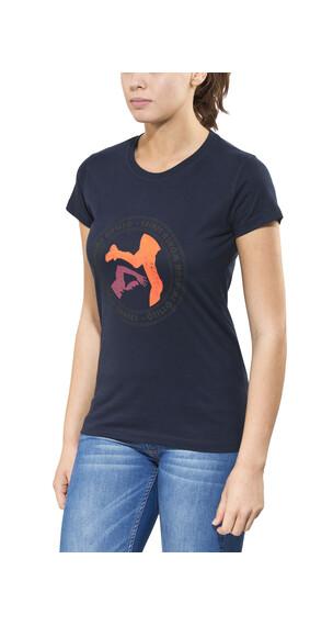 ÖTILLÖ Peach - Camiseta manga corta Mujer - azul